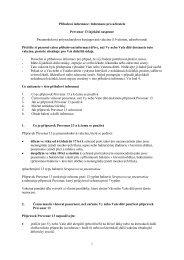 Příbalová informace: Informace pro uživatele Prevenar 13 ... - Pfizer