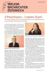 2 Powerfrauen – 1 starkes Team! - Weleda