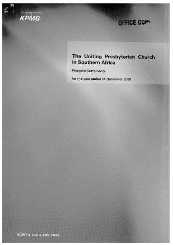 Page 1 Page 2 The Uniting Presbyterian Church in Southern Africa ...