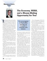 The Economy, NEHA and a Money-Making Opportunity for You!