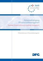 Advanced-Lehrgang Wissenschaftsmanagement - Das ZWM