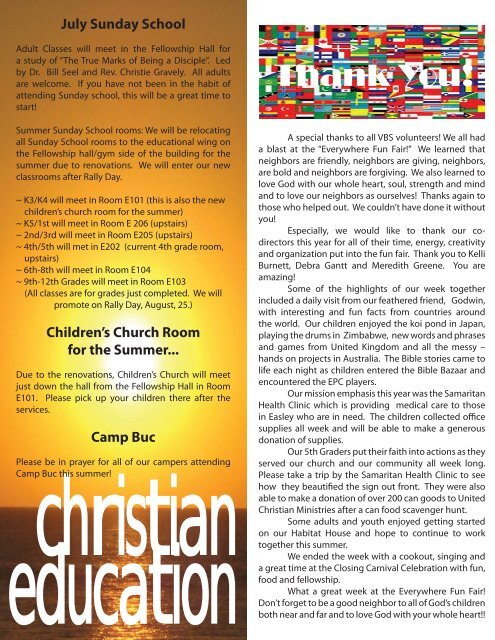 July Newsletter.indd - Easley Presbyterian Church
