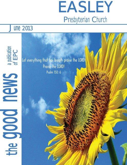 June Newsletter.indd - Easley Presbyterian Church