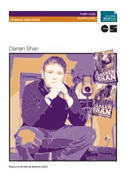 Darren Shan Learning Resources - Scottish Book Trust