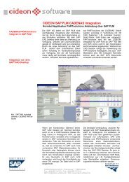 CIDEON SAPPLM CADENAS Integration - CIDEON AG
