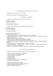 I. A szakképesítés Országos Képzési Jegyzékben szereplő adatai 1 ...