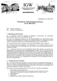 Protokoll als PDF ansehen - Weldergoven