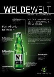 WeldeWelt Ausgabe 2/2012 - Weldebräu GmbH & Co KG