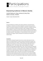 Empowering Audiences to Measure Quality - Participations