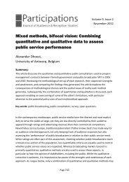 Mixed methods, bifocal vision: Combining ... - Participations