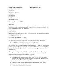 CONSERVATION BOARD SEPTEMBER 24, 2012