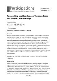 Researching world audiences: The experience of a ... - Participations