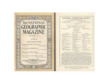 National geographic november 1919