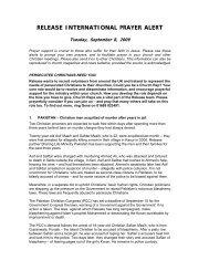 September 8 2009 - Release International