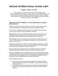 October 16 2012 - Release International