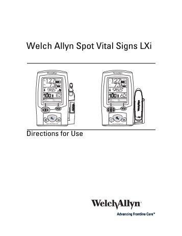 Spot Vital Signs LXi - Welch Allyn