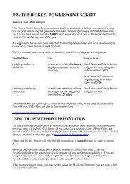 Prayer Works script (full) - Release International