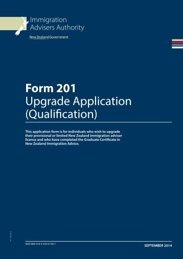 Form 201 Upgrade Application (Qualification) - Immigration Advisers ...