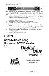 LE062XF Atlas N-Scale Long Universal DCC Decoder - Lenz USA