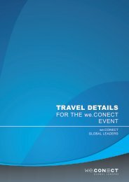 TRAVEL DETAILS - we.CONECT