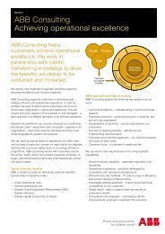 ABB Consulting Achieving operational excellence - we.CONECT