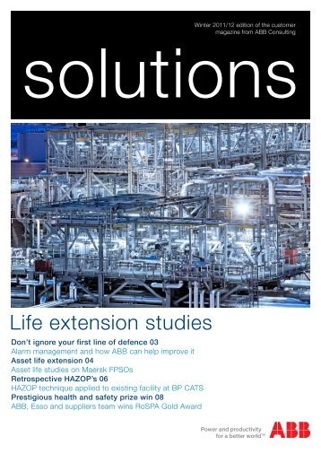 Life extension studies - The ABB Group