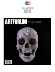 Ana Mendieta Artforum April 2008