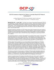 OCP-IP Announces Support for Cadence's Assertion Based OCP ...
