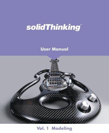 User Manual Vol. 1 Modeling - solidThinking