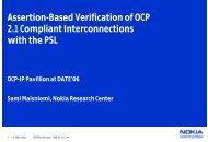 Assertion-Based Verification of OCP 2.1 Compliant ... - OCP-IP