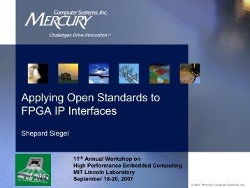 Applying Open Standards to FPGA Interfaces - OCP-IP