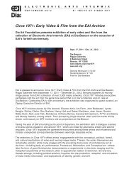 Circa 1971: Early Video & Film from the EAI Archive - Electronic Arts ...