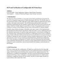 OCP and Verification of Configurable OCP Interfaces - OCP-IP