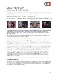 MUSIC VIDEO ART - Electronic Arts Intermix