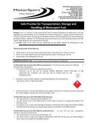 Safe Practice for Transportation, Storage and Handling of Motorsport ...