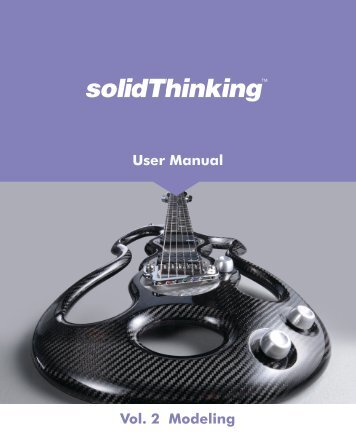 User Manual Vol. 2 Modeling - solidThinking