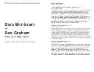 DARA BIRNBAUM AND DAN GRAHAM - Electronic Arts Intermix