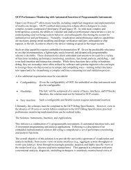 OCP Performance Monitoring – instrumentation and ... - OCP-IP