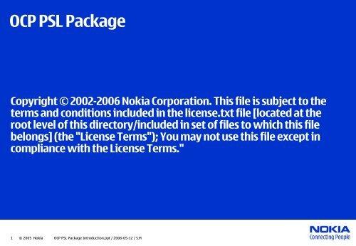 PSL – Property Specification Language - OCP-IP