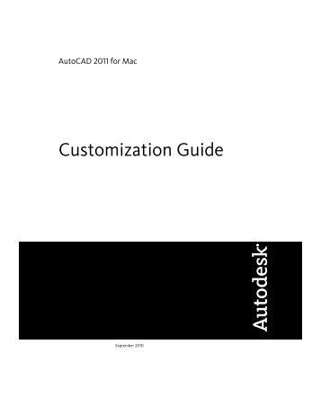 Customization Guide (.pdf) - Documentation & Online Help - Autodesk
