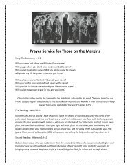Prayer Service for Those on the Margins