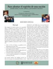 Executive Summary SPANISH.indd - Alliance for Catholic Education