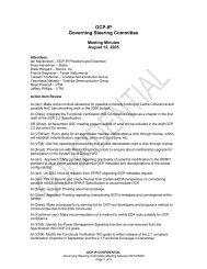 OCP-IP Governing Steering Committee