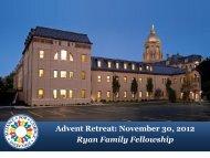 Advent Retreat - Alliance for Catholic Education