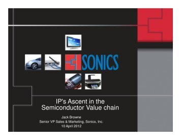 IP's Ascent in the Semiconductor Value chain - OCP-IP