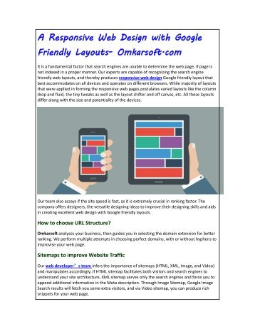 A Responsive Web Design with Google Friendly Layouts- Omkarsoft.com