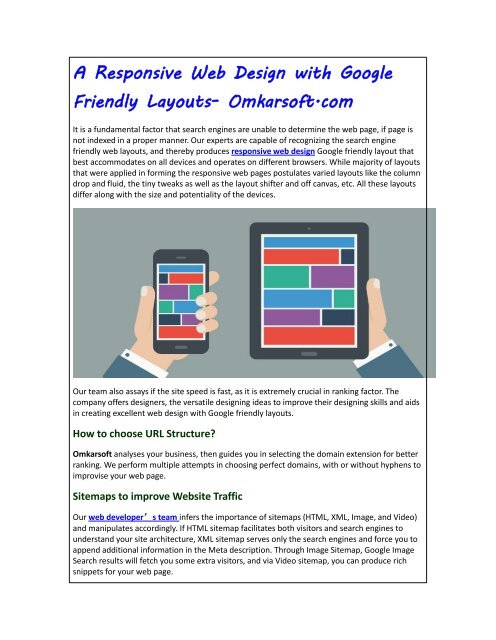 A Responsive Web Design With Google Friendly Layouts Omkarsoft Com