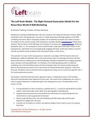 The Left Brain Model: The Right Demand Generation ... - Neolane