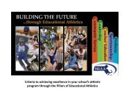 to view the Pillars of Educational Athletics Curriculum