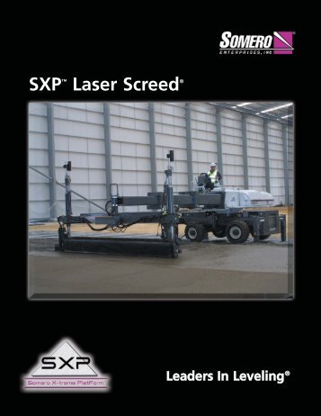 SXP Product Specification - Somero Enterprises